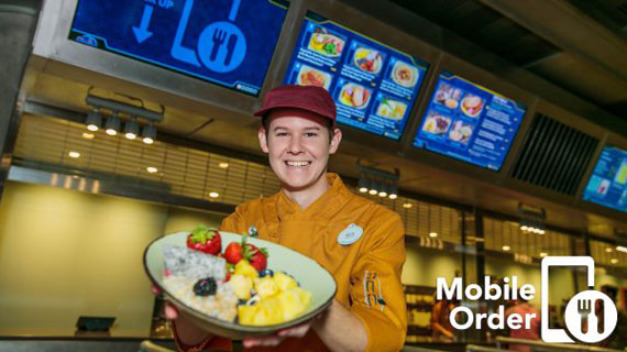 Mobile Ordering for Disney Dining Plans
