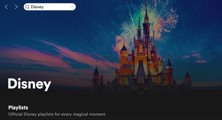 Disney Spotify