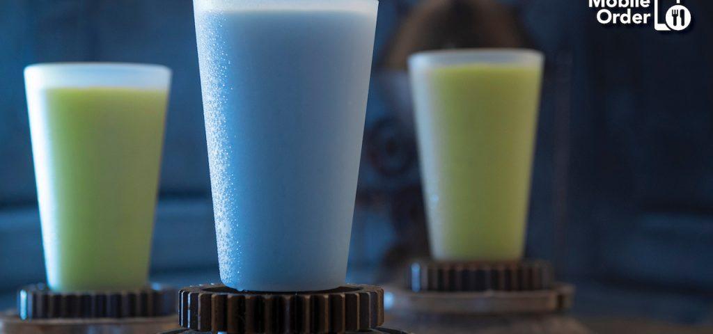 Mobile Order Arriving at Star Wars: Galaxy's Edge at Walt Disney World Resort Blue Milk