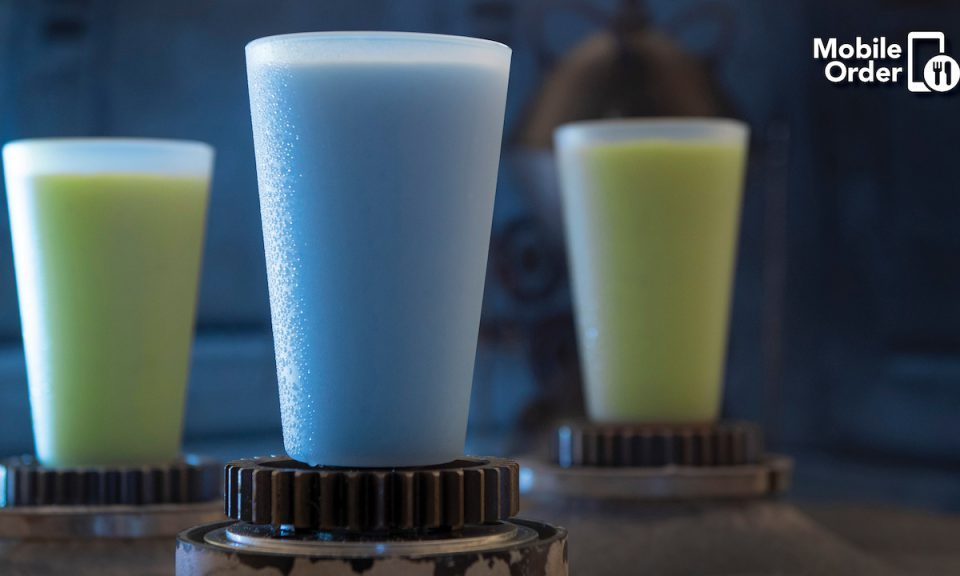 Mobile Order Arriving at Star Wars: Galaxy's Edge at Walt Disney World Resort Blue Milk